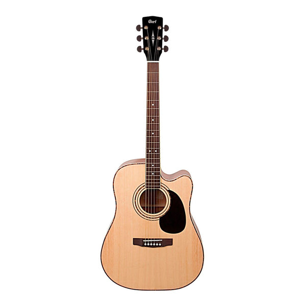 Cort AD880CE Acoustic Guitar w/ Cutaway & Pickup & Spruce Top (Natural Satin)