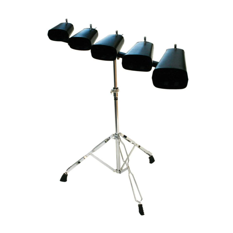 "DXP TDK414  Cowbell SET of Five Bells 4"", 5"", 6"", 7"", 9"" On Stand"
