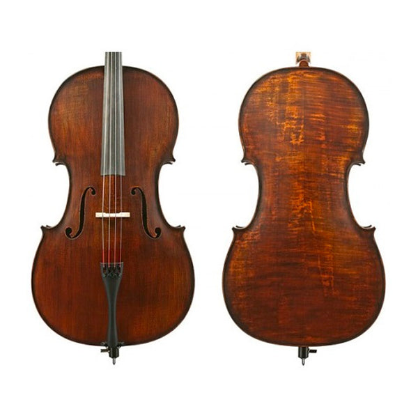 Gliga III Dark Antique Oil Finish Cello Outfit - 3/4 Size Professionally Set Up