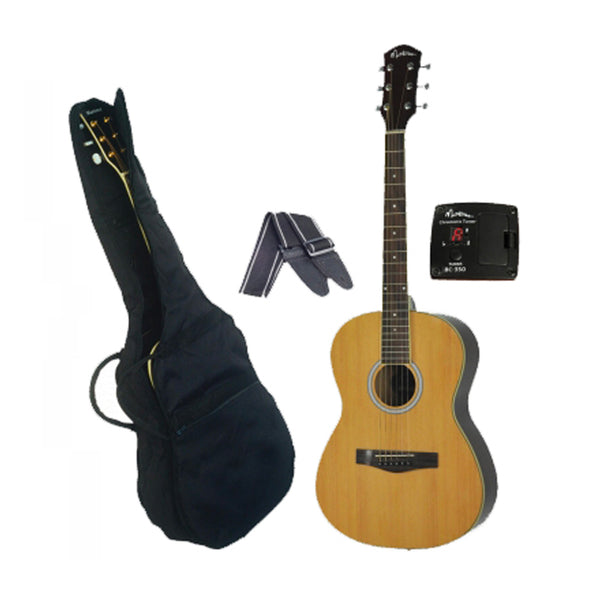 Martinez MP-F1 Small-Body Folk Guitar Pack Steel String