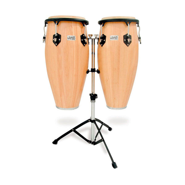 "TOCA Players Series Wooden Conga Set in Natural Gloss 11 & 11""-3/4"""