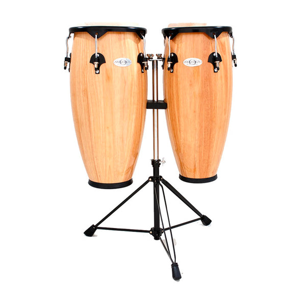 TOCA Synergy Series Wooden Conga Set in Natural Gloss 10 & 11""