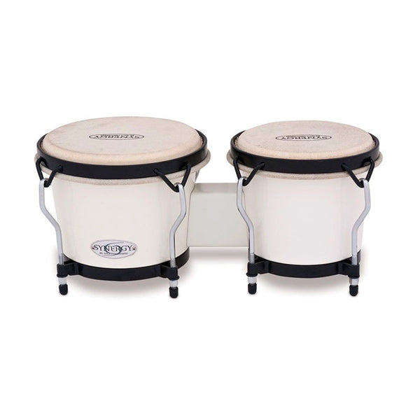 "TOCA TOC2100SW 6 & 6-3/4"" Synergy Series Synthetic Bongos in White"