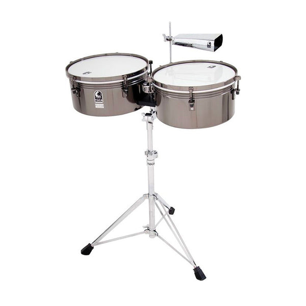 TOCA TOCT1415BM Timbale Custom Deluxe Series Set in Black Chrome