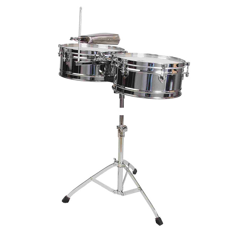 "TOCA TOCT315 Timbale Elite Series Set 14 & 15"" in Chrome"