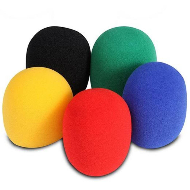 Multi Colour Foam Microphone Windscreens Pk-5