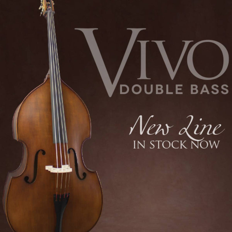 Vivo VIBL Double Bass Laminate with Bag in Antique Finish. Sizes 1/8 - 3/4