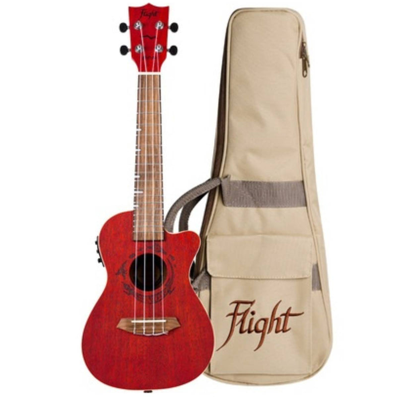 Flight DUC380 CEQ Jade Electro-Acoustic Concert Ukulele + More Colours Available
