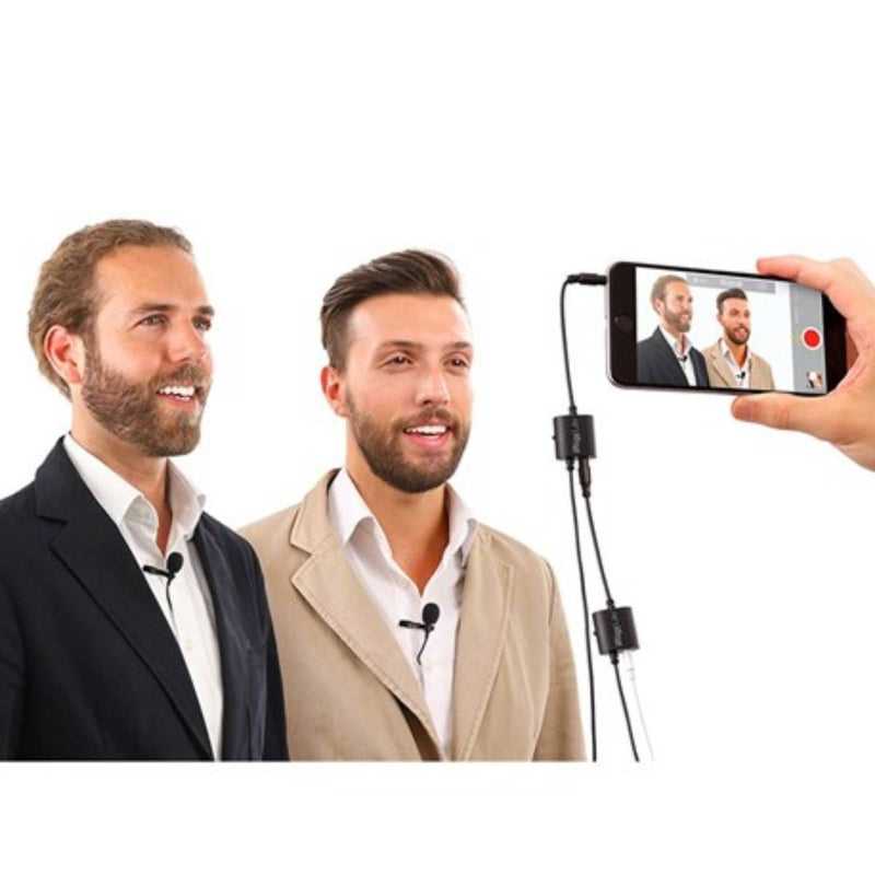 IK Multimedia iRig Mic Lav Lavalier Mic w/ Built-In Monitoring (2-Pack)