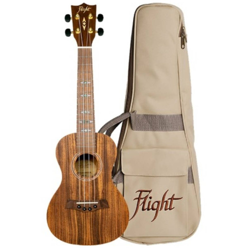Flight DUC440 Acacia Concert Ukulele with Bag