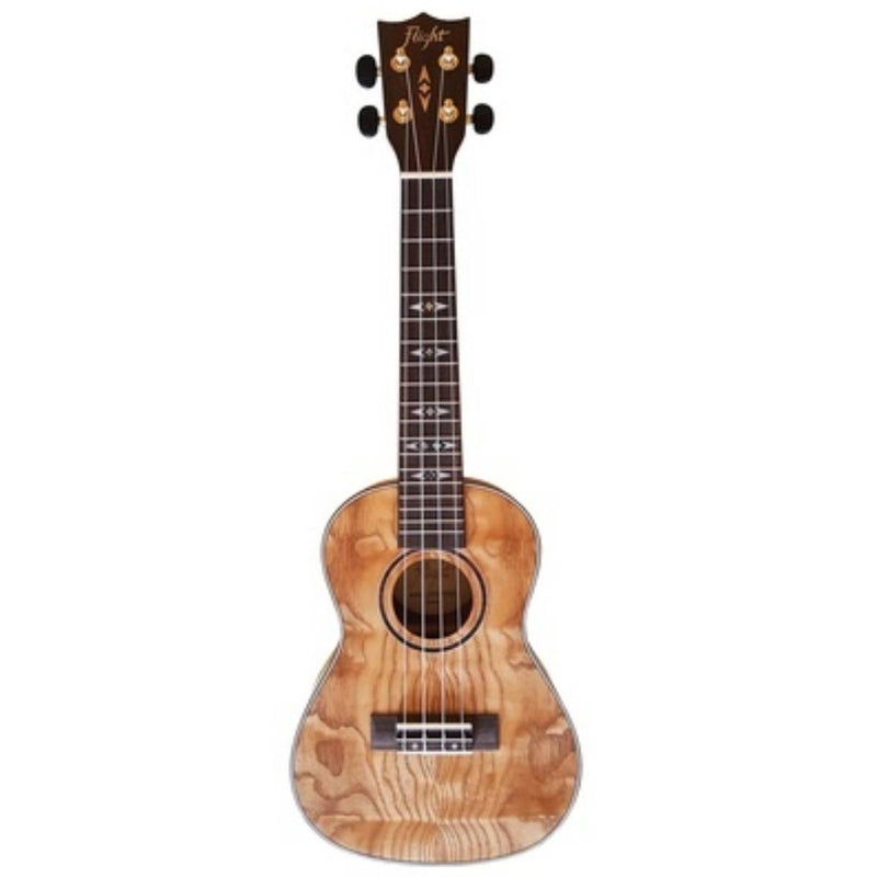 Flight DUC410 QA Quilted Ash Concert Ukulele with Bag