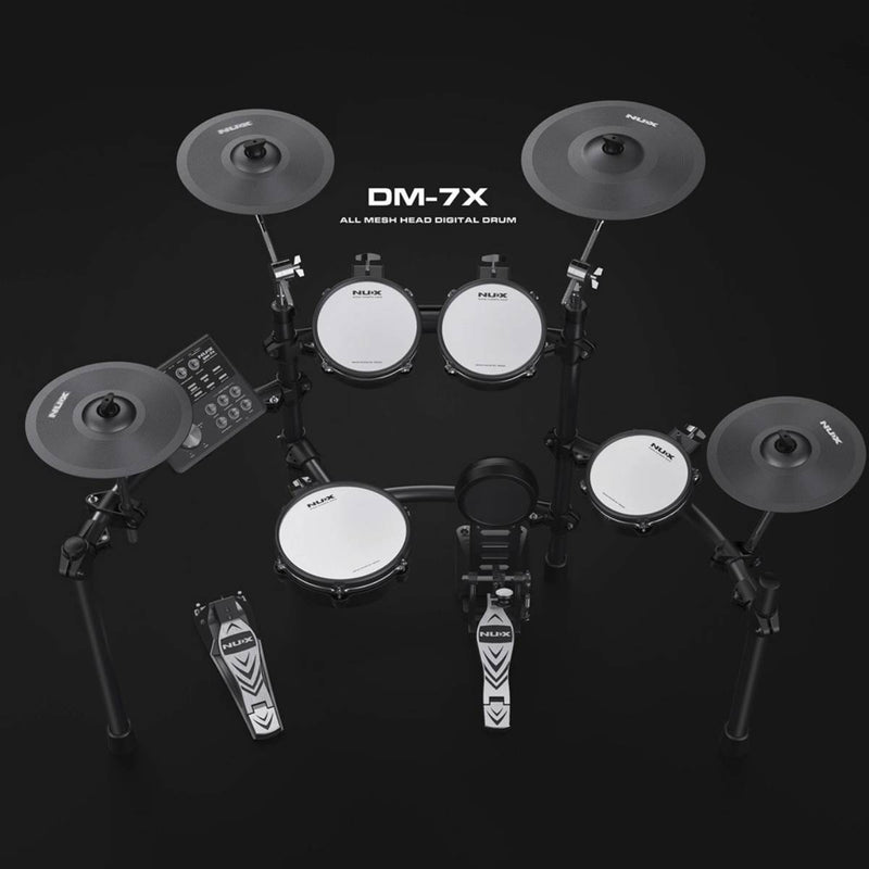 NU-X DM7X Professional 9-Piece Electronic Drum Kit with All Mesh Heads