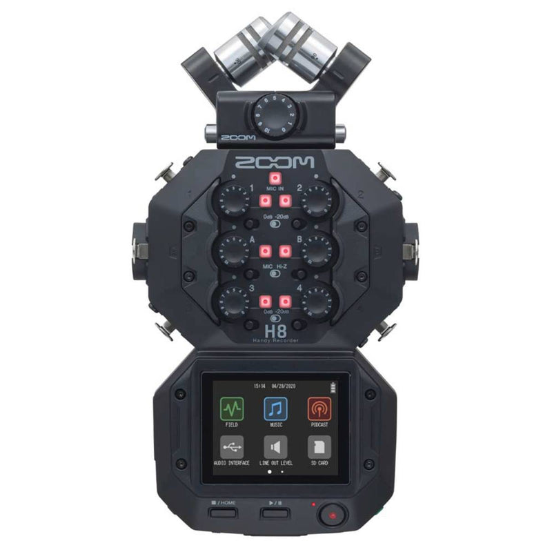 Zoom H8 Handy Recorder 8-Input / 12-Track Portable Recorder