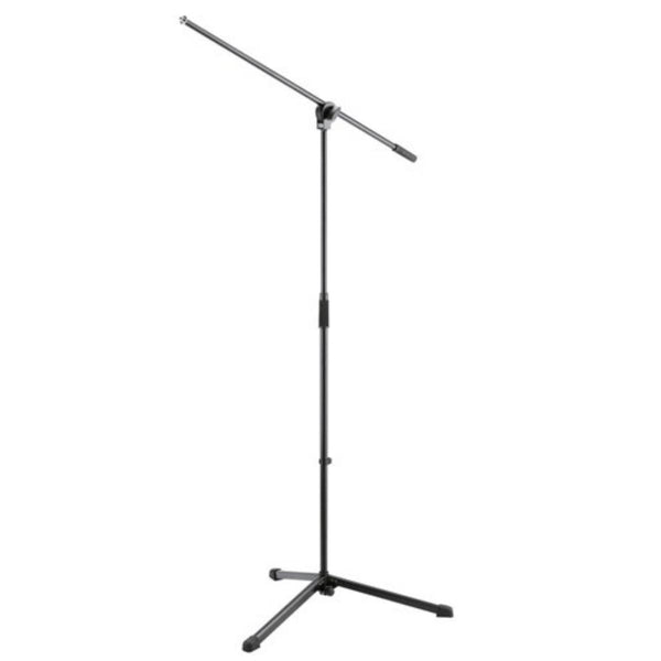 K&M 25400 Boom Arm Mic Stand (Black) - Best Seller!