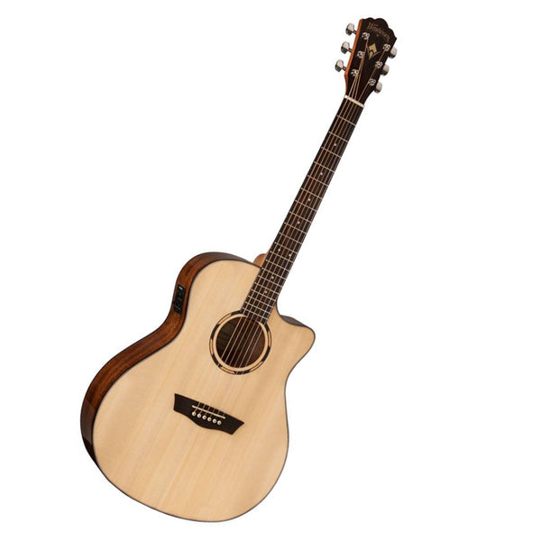 WASHBURN WLO10SCE WOODLINE 10 Orchestra Acoustic/Electric Guitar in Natural