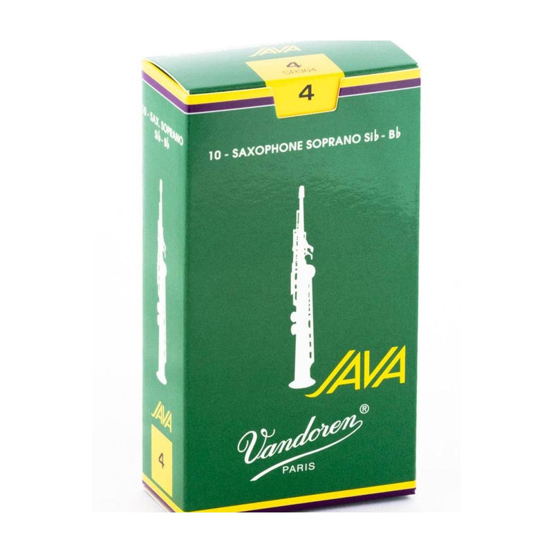 Vandoren Java (Green) Soprano Saxophone Reeds (Box of 10)