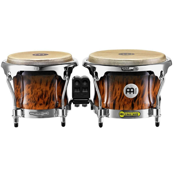 Meinl Free Ride Professional Wood Bongos - Brown Burl 0r Natural