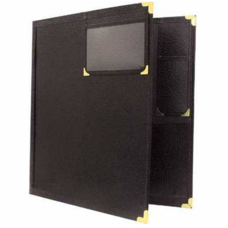 DR90 Band Folio With Window And Pencil Pocket Black