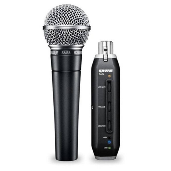 Shure SM58 + X2u USB Digital Bundle