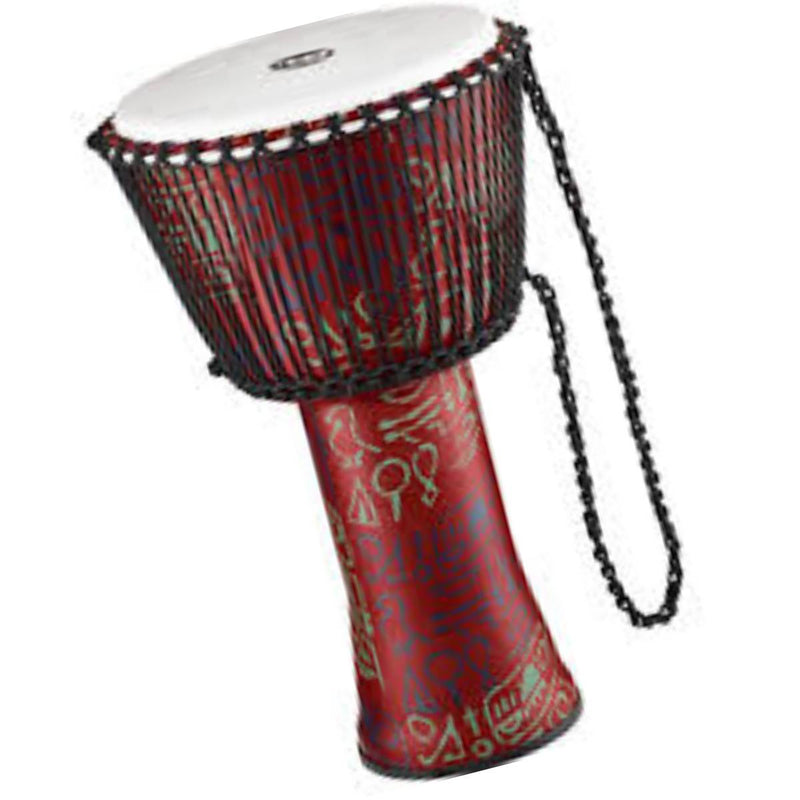 "Meinl 12"" Djembe Rope Tuned Djembe Synthetic Head in Pharoah's Script"