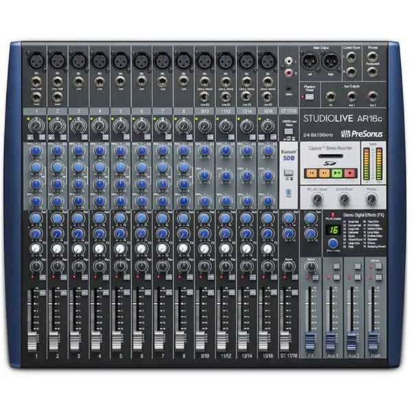 Presonus StudioLive AR16c 16-Ch Mixer w/ Bluetooth & USB Multitrack Recording