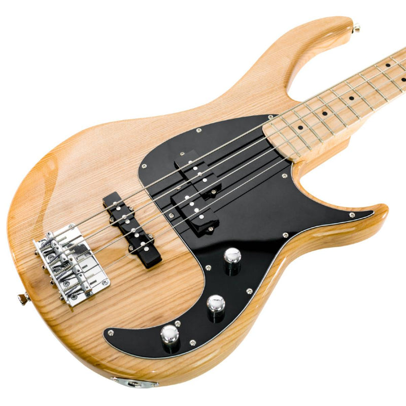 Peavey Milestone Series 4 String Bass Guitar in Natural