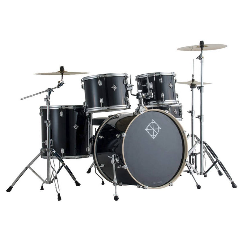 Dixon Spark Series 5-Pce Drum Kit with Cymbals in Misty Black Sparkle