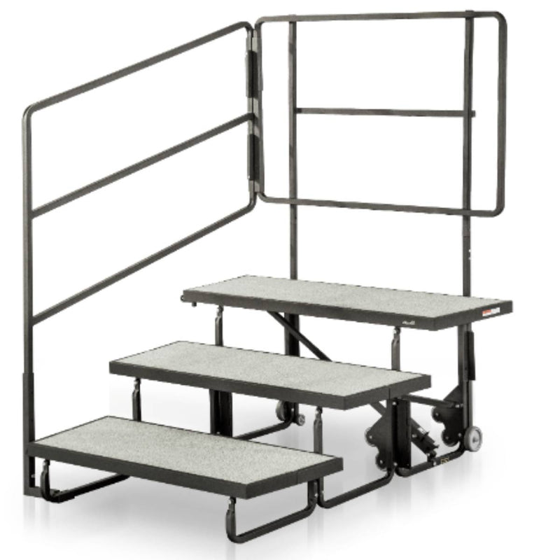 Alges Choral Riser – Back Rail for 3rd Step