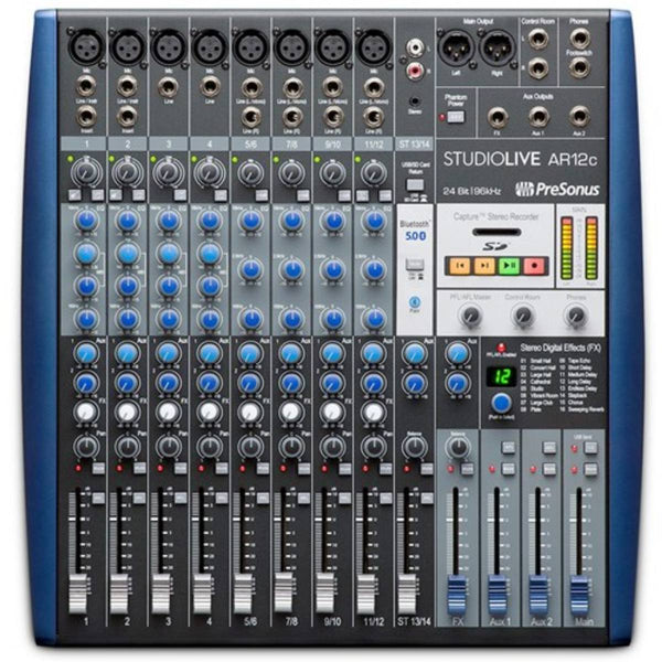 Presonus StudioLive AR12c 14-Ch USB-C Audio Interface, Analog Mixer & SD Recorder