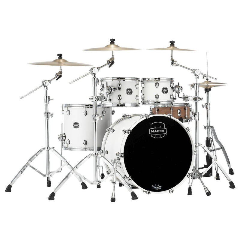Mapex Saturn V Exotic 4pc Drum Kit - Shell Pack - Satin White