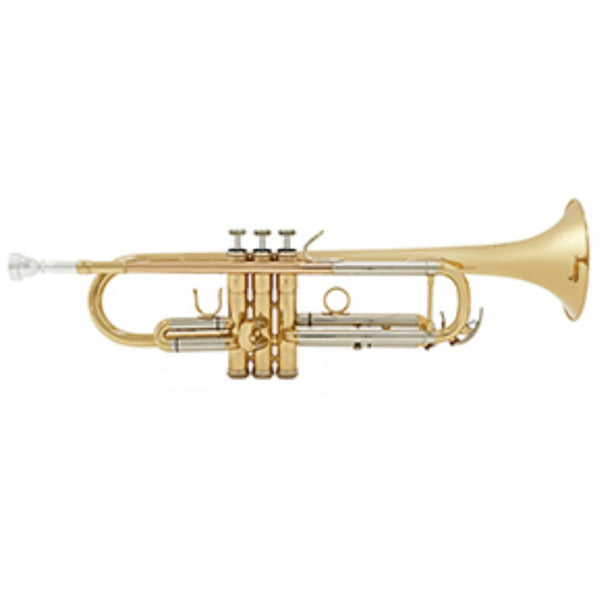BESSON NEW STANDARD SERIES STUDENT TRUMPET, GOLD LACQUER FINISH, Bb