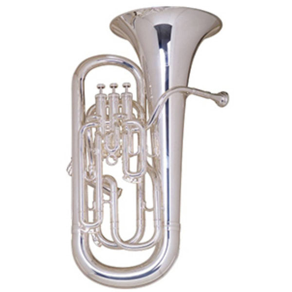 01-BE968T-2-0, BESSON SOVEREIGN SERIES EUPHONIUM, 4 VALVE COMPENSATING, TUNING SLIDE TRIGGER, MEDIUM-LARGE BORE, SILVER-PLATED, Bb
