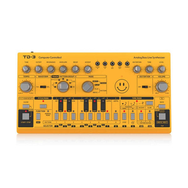 Behringer TD-3 Bass Line Synth Yellow