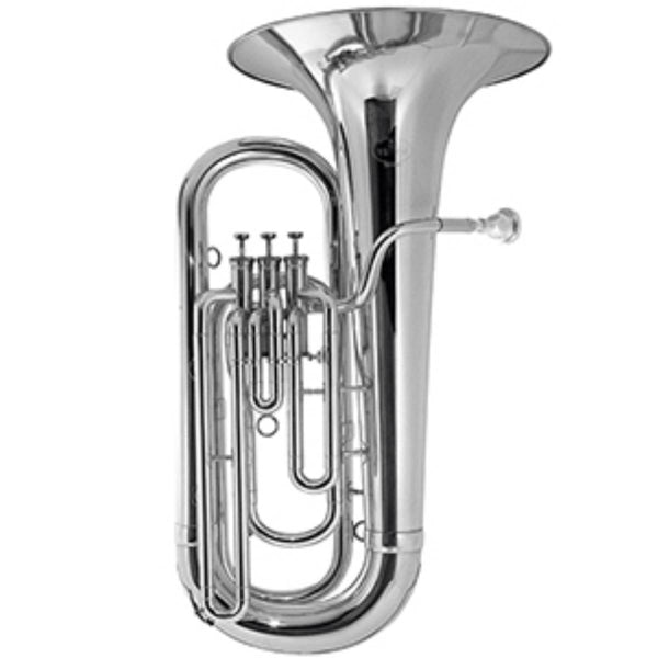 BESSON 3-VALVE Eb TUBA, SILVER PLATED, STUDENT MODEL