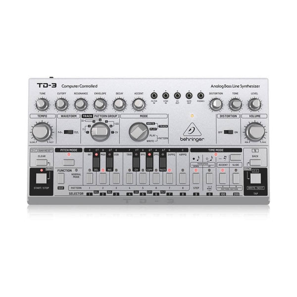 Behringer TD-3 Bass Line Synth Silver