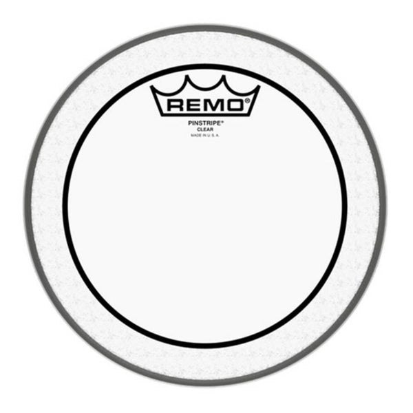 "Remo PS-0308-00 Pinstripe Clear 8"" Drum Head"
