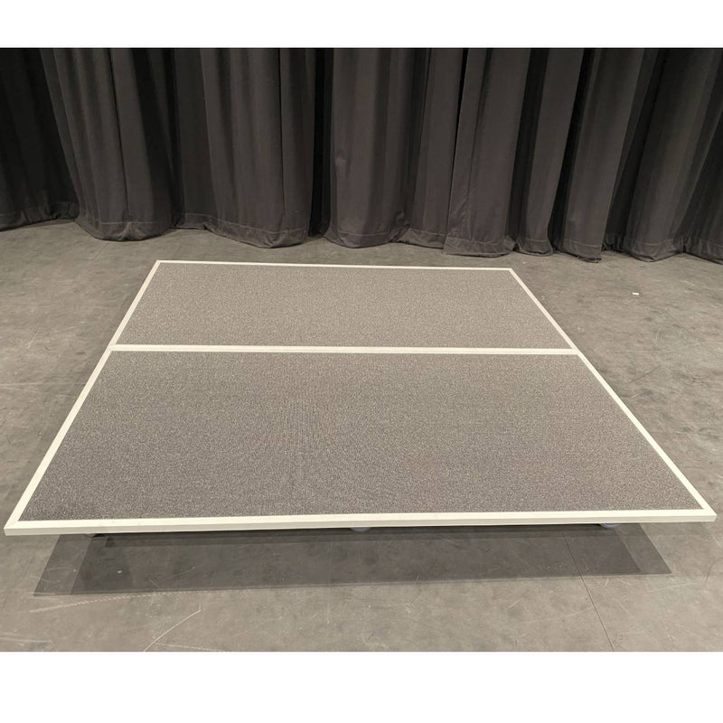 Stage Craft Drummers Stage 2000mm x 2000mm - 2 Interlocking pieces complete with locking wheels. Durable and versatile.