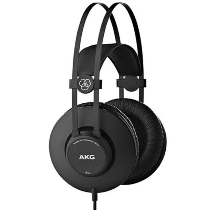 AKG K52 Closed-Back Headphones for Live Sound Monitoring & Recording Studios