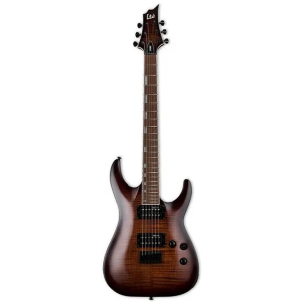 ESP LTD Horizon Series H-200FM Flamed Maple Electric Guitar (Dark Brown Sunburst)