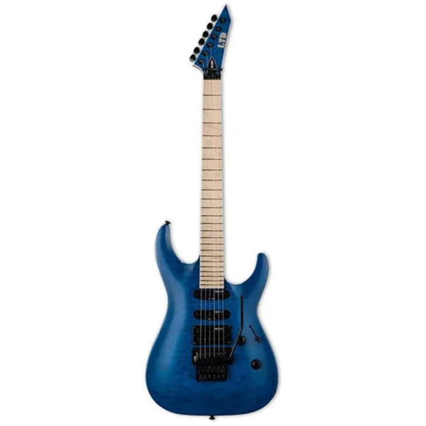 ESP LTD MH Series MH-203QM Quilted Maple Electric Guitar (See Thru Blue)
