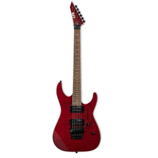ESP LTD M Series M-200FM Flamed Maple Electric Guitar (See Thru Red)