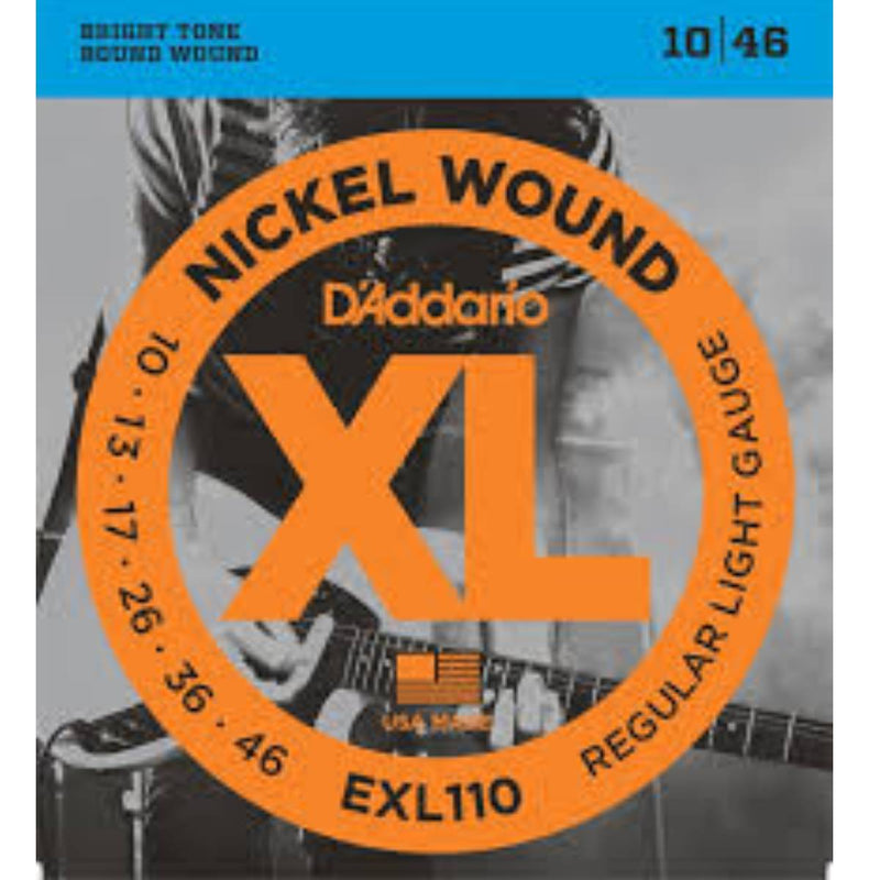 D'Addario EXL110 Nickel Wound Electric Guitar Strings - Regular Light (10-46)