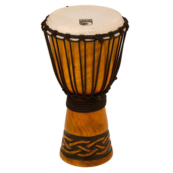 "TOCA 8"" Carved Series Wooden Djembe African Rope Tuning"