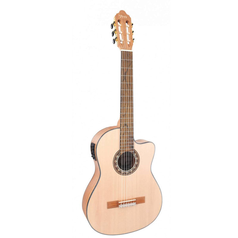 Valencia VC304CE Classical Guitar w/Cutaway and Pickup - Natural