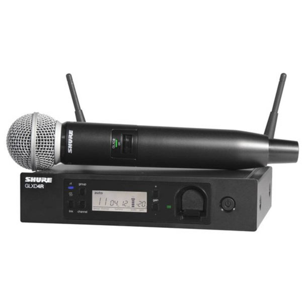 Shure GLXD24R/SM58 Advanced Digital Wireless Vocal System w/ SM58 Vocal Microphone (1)