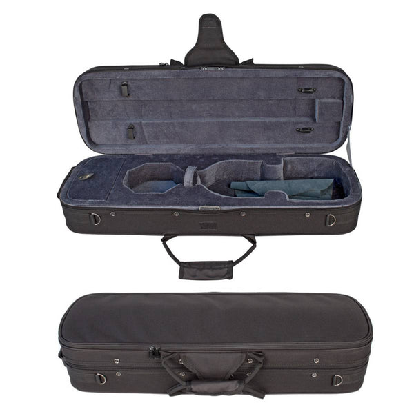 V-CASE 4/4 Deluxe Violin Case TV134 2 bow holders.