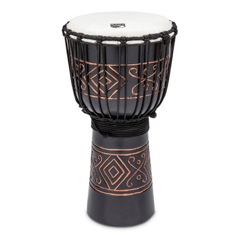 "TOCA 10"" Carved Series Wooden Djembe African Rope Tuning"