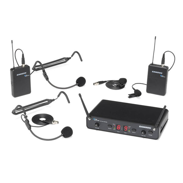 Samson Concert 288 Presentation Headset (2) Dual-Channel Wireless System