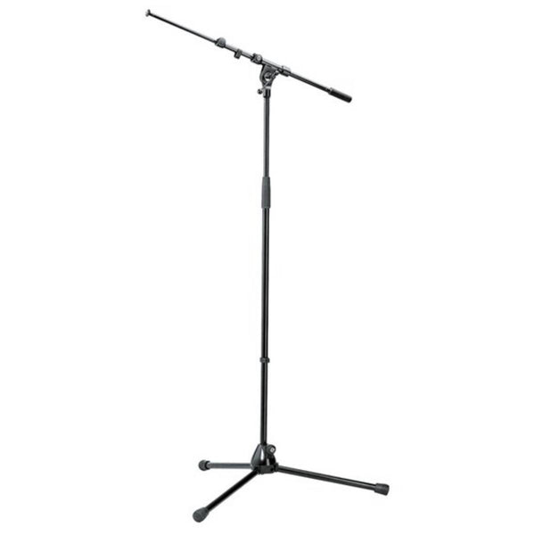 K&M 210/9B Long-Legged Mic Stand w/ Telescopic Boom Arm (Black)