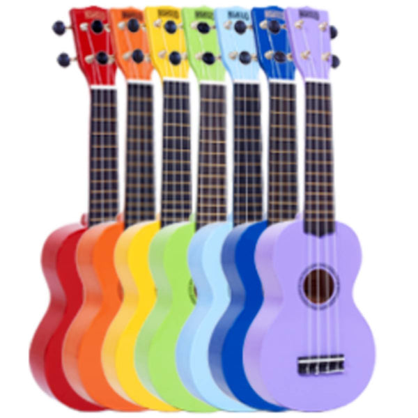 Class Set of 25 Mahalo MR1 Soprano Ukulele (Colours) w/ Bag